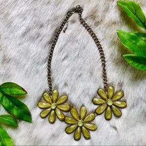 Flower Statement Necklace ~Yellow~